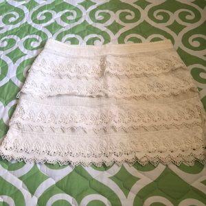 New American Eagle lace mini skirt